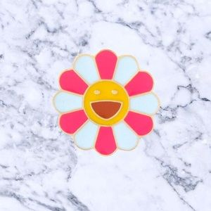 Jewelry - Murakami Pink/White Enamel Pin